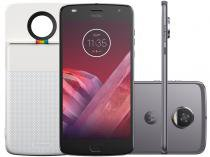 Smartphone Motorola Moto Z2 Play + Polaroid Snap - 64GB Platinum Dual Chip 4G Câm. 12MP + Selfie 5MP