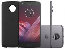 Smartphone Motorola Moto Z2 Play Power Edition - 64GB Platinum Dual Chip 4G Câm. 12MP + Selfie 5MP