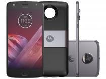 Smartphone Motorola Moto Z2 Play + Power Pack - TV Digital 64GB Platinum Dual Chip 4G Câm. 12MP