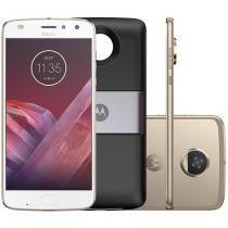Smartphone Motorola Moto Z2 Play + Power Pack - TV Digital 64GB Platinum Dual Chip 4G Câm. 12MP