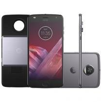 Smartphone Motorola Moto Z2 Play Projector Edition - 64GB Platinum Dual Chip 4G Câm. 12MP + Selfie 5MP
