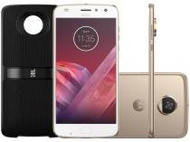 Smartphone Motorola Moto Z2 Play Sound Edition - 64GB Ouro Dual Chip 4G Câm. 12MP + Selfie 5MP