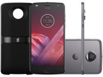 Smartphone Motorola Moto Z2 Play Sound Edition - 64GB Platinum Dual Chip 4G Câm. 12MP + Selfie 5MP