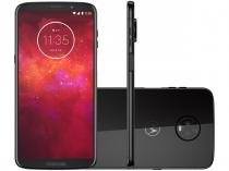 Smartphone Motorola Moto Z3 Play 128GB Ônix - Dual Chip 4G Câm. 12MP e 5MP + Selfie 8MP Flash