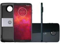 Smartphone Motorola Moto Z3 Play PowerPack  DTV - 64GB Índigo Dual Chip 4G Câm 12MP e 5MP + Selfie