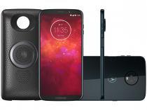 Smartphone Motorola Moto Z3 Play Stereo Speaker - 64GB Índigo Dual Chip 4G Câm 12MP e 5MP + Selfie