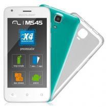 Smartphone MS45S Multilaser Quadcore 8GB Flash 1GB Ram Android 5.1 Branco - Multilaser
