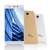 Smartphone MS50 4G Multilaser Câmera 8 MP + 5 MP Quad Core 1GB Ram  Branco - P9014 - Branco - Multilaser