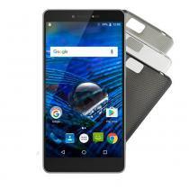 "Smartphone MS70 4G Dual Chip Android 6.0 Tela 5,85""  Octa-Core 32GB Dual Câmera 16MP+8MP Multilaser Prata - P9036 - Prata - Multilaser"