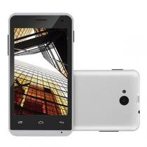 """Smartphone Multilaser MS40S Quad Core 1.2Ghz Android 6.0 Cam 2/5Mp 4"""" 3G 8GB Branco NB252 -"""