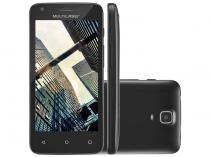 "Smartphone Multilaser MS45 S 8GB Preto Dual Chip - Câm. 5MP Tela 4.5"" Proc. Quad Core"