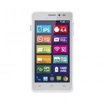Smartphone Multilaser MS5 Dual Chip 3G Android 4.4 8Mp Branco - P3311 - Neutro - Multilaser
