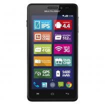 Smartphone Multilaser MS5 P3310 Colors 4.5 Pol Preto 8GB - Multilaser