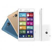Smartphone Multilaser Ms6 Colors Branco com Tela de 5.5 Dual Chip Android 4.4 - P3313 - Neutro - Multilaser