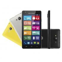 Smartphone Multilaser Ms6 Colors Quad Core 1.3Ghz Android 4.4 8GB 8Mp 3G Dual Chip - Neutro - Multilaser