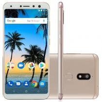 "Smartphone Multilaser MS80 3GB RAM + 32GB Tela 5,7"" HD+ Android 7.1 Cor:Golden Grass -"