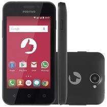 """Smartphone Positivo One S420 8GB Preto Dual Chip - 3G Câm. 3.2MP Tela 4"""" Proc. Dual Core Desbl. Oi"""