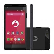 Smartphone Positivo S455 Selfie Preto DualChip 8GB Tela 4,5 3G Android 5.0 Câmera frontal de 8MP - Positivo