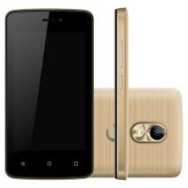 "Smartphone Positivo Twist Mini 8GB Dourado Dual - Chip 3G Câm. 8MP Tela 4"" Proc. Dual Core Android"