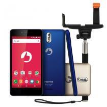 """Smartphone positivo twist s s520 + bastão de selfie  android 6.0 3g wifi 5"""" 8gb câmera 8mp  azul - Positivo"""