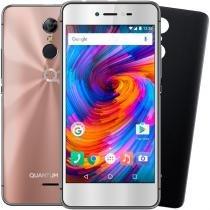 Smartphone Quantum GO2 4G 32GB Rosa Octacore 3GB RAM Duas Câmeras 13MP Tela HD 5 Android 7 -