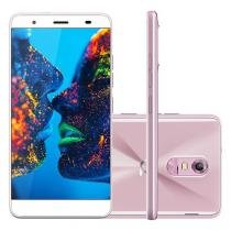 "Smartphone Quantum Müv Pro 32GB Rosa Dual Chip - 4G Câm. 16MP + Selfie 8MP Tela 5.5"" HD"
