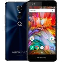 Smartphone Quantum MUV UP 4G 32GB Azul Octacore 3GB RAM Dual Cam 13MP Tela HD 5.5 Android 7 -