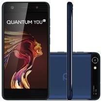 "Smartphone Quantum You L 32GB Azul Dual Chip - 4G Câm. 13MP + Selfie 8MP Tela 5"" HD Quad Core"