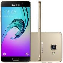 """Smartphone Samsung A5 2016 Duos 16GB Dourado - Dual Chip 4G Câm. 13MP + Selfie 5MP Tela 5.2"""""""