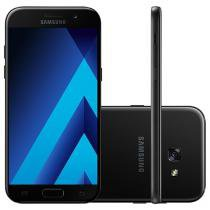 "Smartphone Samsung A5 2017 32GB Preto Dual Chip - 4G Câm. 16MP + Selfie 16MP 5.2"" Proc. Octa Core"