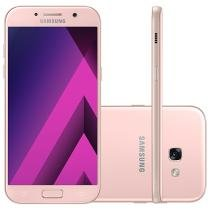 "Smartphone Samsung A5 2017 32GB Rosa Dual Chip - 4G Câm. 16MP + Selfie 16MP 5.2"" Proc. Octa Core"