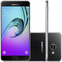 """Smartphone Samsung A7 2016 Duos 16GB Preto - Dual Chip 4G Câm. 13MP + Selfie 5MP Tela 5.5"""""""