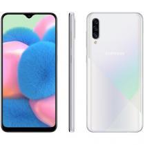 "Smartphone Samsung Galaxy A30s 64GB Branco 4G - 4GB RAM Tela 6,4"" Câm. Tripla + Câm. Selfie 16MP"