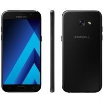 "Smartphone Samsung Galaxy A5 2017 32GB Preto - Dual Chip 4G Câm. 16MP + Selfie 16MP Tela 5.2"""