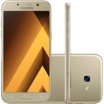"""Smartphone Samsung Galaxy A5 (2017) Dourado 5,2"""" Câmera de 16MP 32GB Dual Chip 3GB de RAM - Samsung"""