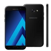 """Smartphone samsung galaxy a5 2017 duos a520f/ds preto com dual chip, tela 5.2"""" fhd, 4g, câmera 16mp, android 6.0, processador octa core e 3gb ram -"""