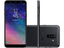 Smartphone Samsung Galaxy A6+ 64GB Preto - Dual Chip 4G Câm. 16MP e 5MP + Selfie 24MP Flash