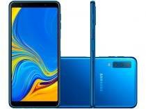 """Smartphone Samsung Galaxy A7 128GB Azul 4G - 4GB RAM Tela 6"""" Câm. Tripla + Selfie 24MP"""
