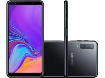 "Smartphone Samsung Galaxy A7 128GB Preto 4G - 4GB RAM Tela 6"" Câm. Tripla + Selfie 24MP"