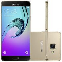 Smartphone Samsung Galaxy A7 2016 Duos 16GB - Dourado Dual Chip 4G Câm. 13MP + Selfie 5MP