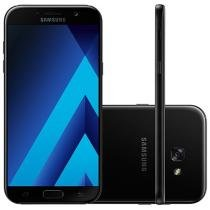 Smartphone Samsung Galaxy A7 2017 32GB Preto - Dual Chip 4G Câm. 16MP + Selfie 16MP Desbl. TIM