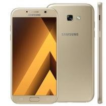 "Smartphone Samsung Galaxy A7 2017, 4G, Dual Chip, Tela Super AMOLED, 5.7"" FHD, Android 6.0,Octa Core, 32GB, 3GB RAM, câmera 16MP + 16MP -"