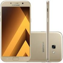 Smartphone Samsung Galaxy A7 2017 64GB Dourado - Dual Chip 4G Câm. 16MP + Selfie 16MP Tela 5.7""