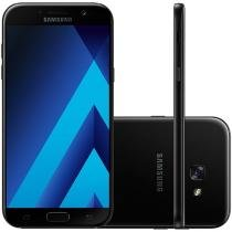 Smartphone Samsung Galaxy A7 2017 64GB Preto - Dual Chip 4G Câm. 16MP + Selfie 16MP Tela 5.7""