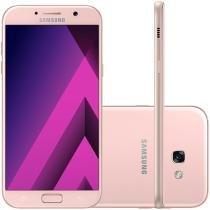 Smartphone Samsung Galaxy A7 2017 64GB Rosa - Dual Chip 4G Câm. 16MP + Selfie 16MP Tela 5.7""