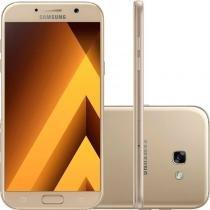 """Smartphone Samsung Galaxy A7 2017 Dourado 5,7"""" 32GB Dual Chip Câmera Frontal 16MP e 3GB de RAM - Samsung"""
