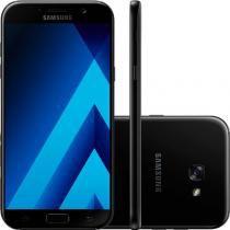 """Smartphone Samsung Galaxy A7 2017 Preto 5,7"""" 32GB Dual Chip Câmera Frontal 16MP e 3GB de RAM -"""
