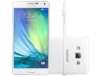 "Smartphone Samsung Galaxy A7 Duos 16GB Branco - Dual Chip 4G Câm. 13MP + Selfie 5MP Tela 5.5"" FHD"