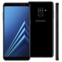 """Smartphone Samsung Galaxy A8 Plus, 64GB, 6"""", Android 7.1, 16MP - Preto -"""