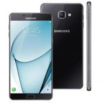 """Smartphone samsung galaxy a9 preto com 32gb, dual chip, tela 6.0"""", 4g, android 6.0, câmera 16mp, leitor digital, processador octa core e ram de 4gb -"""